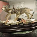 Country Artists Pack Of Wolves On Frozen Lake Figurine