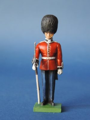 54mm Metal Cast Toy Soldier. Scots Guards Rifle To Ground