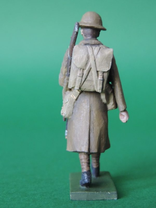 54mm Metal Cast Toy Soldier. World War 1 Trench Coat