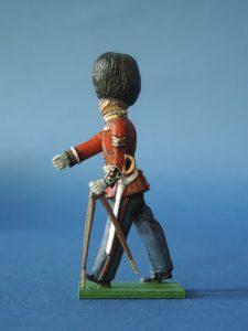 54mm Metal Cast Toy Soldier. Scots Guards Pace Stick