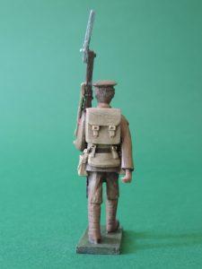 54mm Metal Cast Toy Soldier. World War 1 Marching Peak Cap Shouldered Rifle