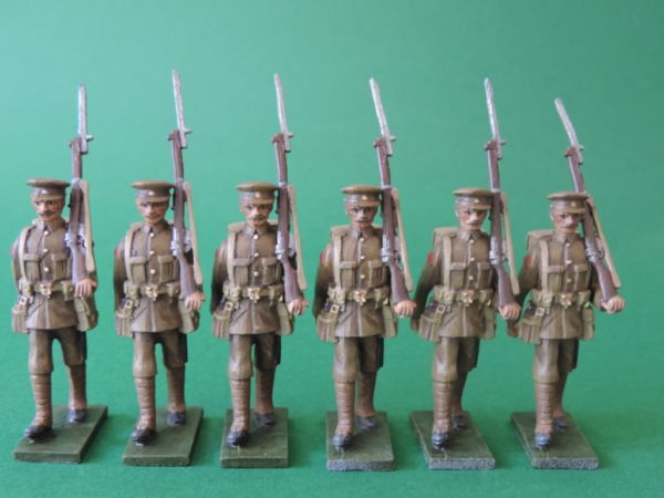 54mm World War 1 Metal Toy Soldiers