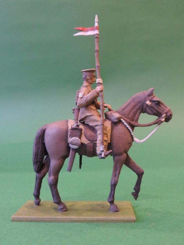 54mm Metal Cast Toy Soldier. Mounted World War 1 Lancer