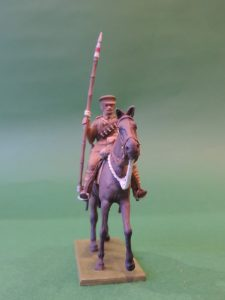 54mm Metal Cast Toy Soldier. Mounted World War 1 Lancer