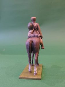 54mm Metal Cast Toy Soldier. Mounted World War 1 Gunner