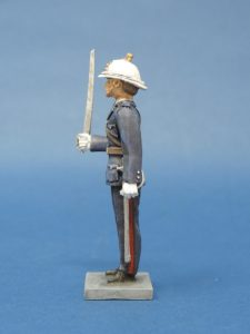 54mm Metal Cast Toy Soldier. Royal Marine Officer Standing