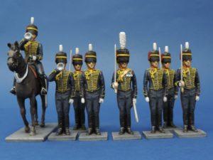 54mm Metal Cast Royal Horse Artillery Toy Soldier.