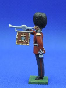 54mm Metal Cast Toy Soldier. Scots Guards Fanfare Trumpeter