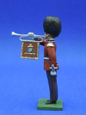 54mm Metal Cast Toy Soldier. Scots Guards Fanfare Trumpeter