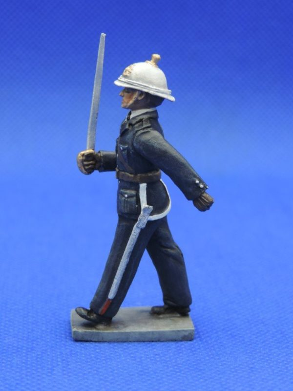 54mm Metal Cast Toy Soldier. Royal Marine Officer Marching