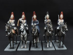 54mm Metal Cast Mounted Blues And Royals Toy Soldier.