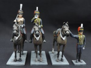 54mm Metal Cast Mounted Royal Horse Artillery Toy Soldier.
