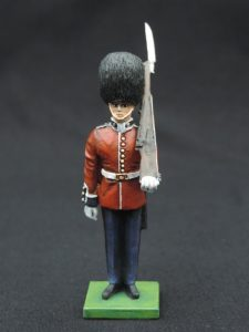 54mm Metal Cast Toy Soldier. Scots Guard Standing Rifle On Shoulder