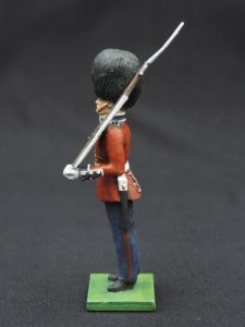 54mm Metal Cast Toy Soldier. Scots Guards Standing Rifle On Shoulder