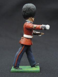 54mm Metal Cast Toy Soldier. Scots Guards Baton