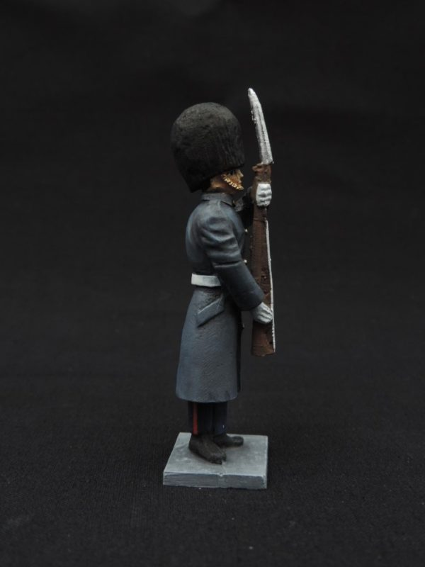 54mm Metal Cast Toy Soldier. Scots Guards Great Coat At Attention