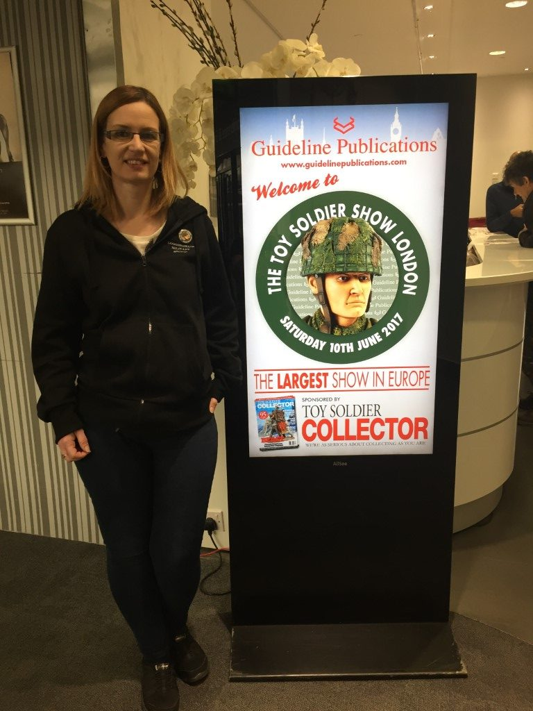 Louise Handley From Loggerheads Military Studio Attending the London Toy Soldier Show