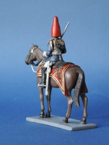 54mm Metal Cast Toy Soldier. Mounted Blues And Royals Officer