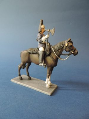 54mm Metal Cast Toy Soldier. Mounted Blues And Royals Farrier