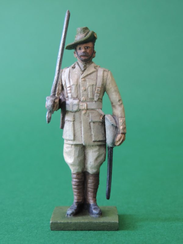 54mm Metal Cast Toy Soldier. World War 2 Australian Officer