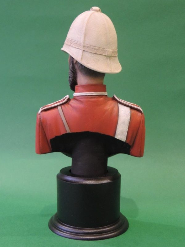 Hand Painted 120mm British Empire 24th Foot Military Bust Produced By Loggerheads Military Studio
