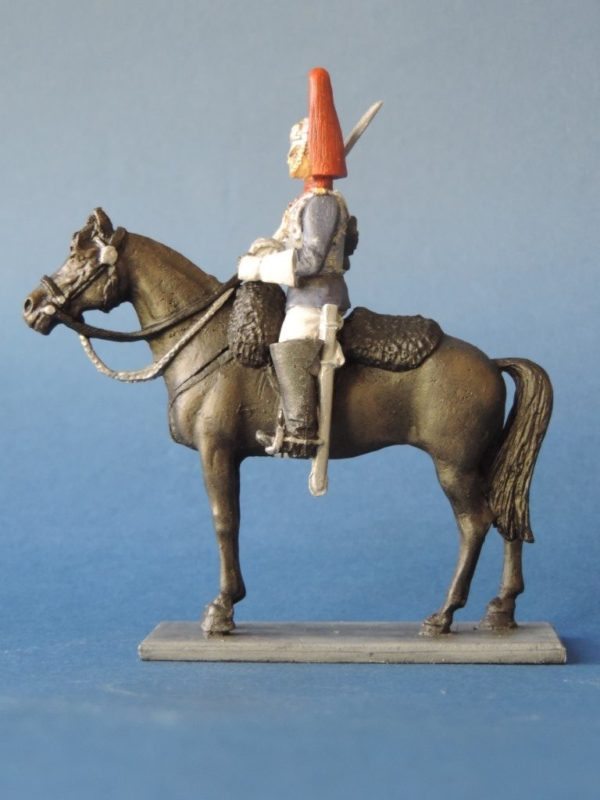 54mm Metal Cast Toy Soldier. Mounted Blues And Royals Corporal