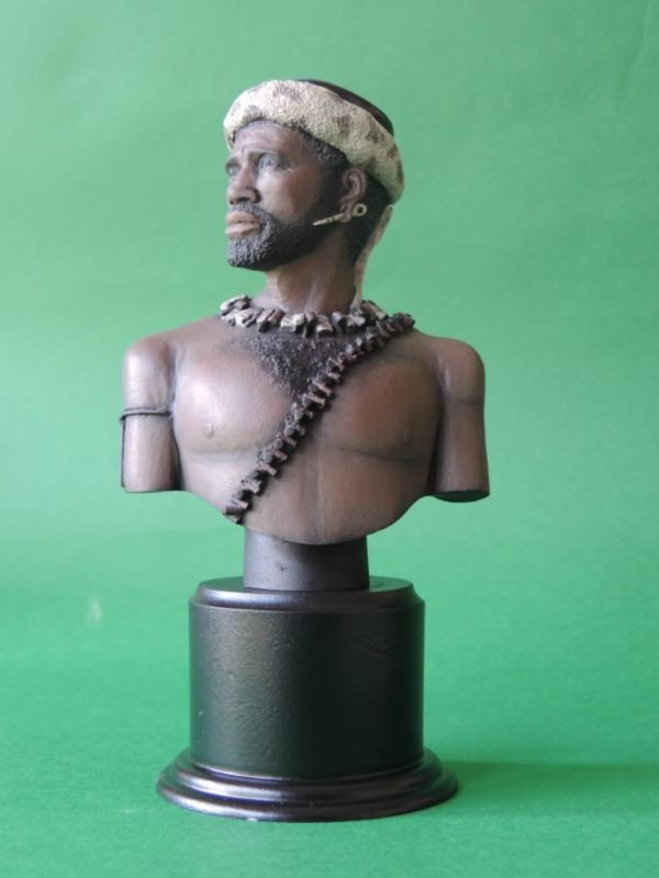 Hand Painted 120mm Zulu Warrior Military Bust Produced By Loggerheads Military Studio