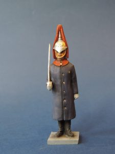 54mm Metal Cast Toy Soldier. Blues And Royals At Attention