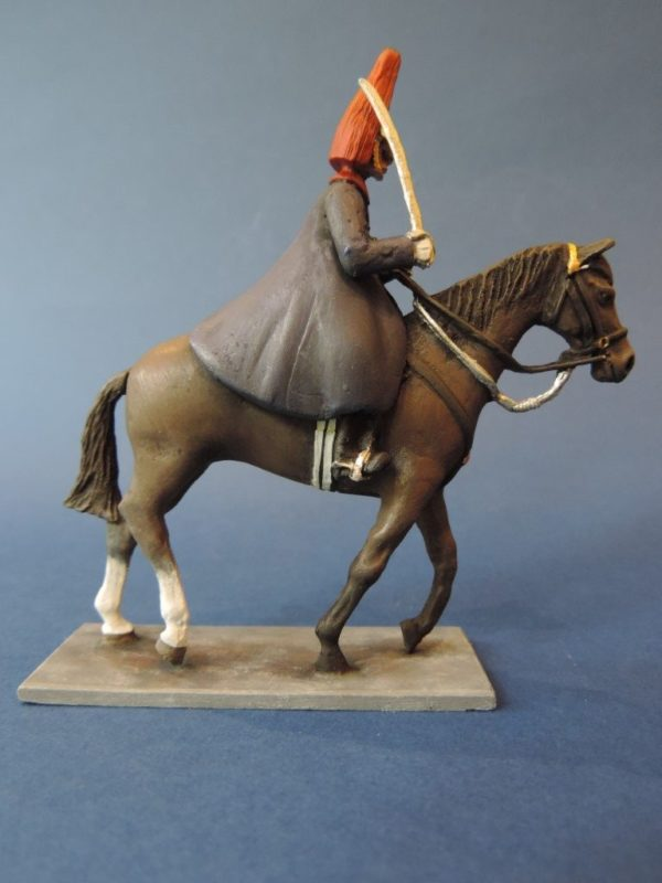 54mm Metal Cast Toy Soldier. Mounted Blues And Royals Corporal Of Horse