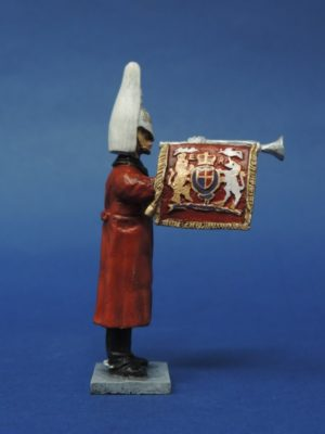 54mm Metal Cast Toy Soldier. Lifeguard Fanfare Trumpeter