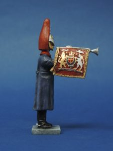 54mm Metal Cast Toy Soldier. Blues And Royals Fanfare Trumpeter