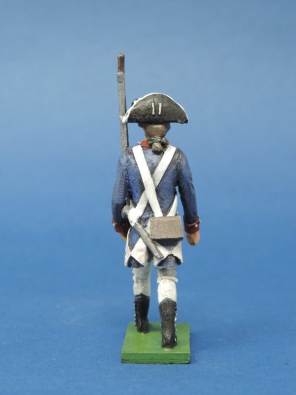 54mm Metal Cast Toy Soldier. American Revolution Continental