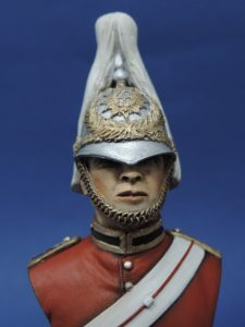Hand Painted 100mm Horse Guards Lifeguard Military Bust Produced By Loggerheads Military Studio