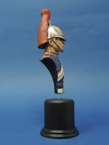 Hand Painted 100mm Horse Guards Blues And Royals Military Bust Produced By Loggerheads Military Studio