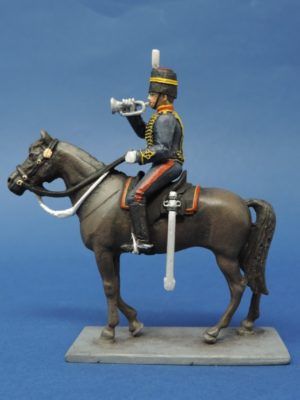 54mm Metal Cast Toy Soldier. Mounted Royal Horse Artillery Bugler