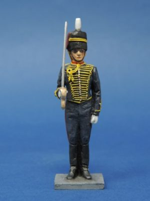 54mm Metal Cast Toy Soldier. Royal Horse Artillery Gunner With Sword