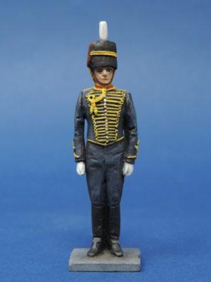 54mm Metal Cast Toy Soldier. Royal Horse Artillery Gunner Standing