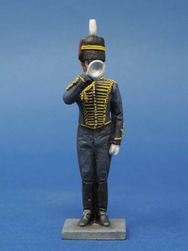54mm Metal Cast Toy Soldier. Royal Horse Artillery Bugler