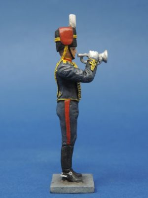 54mm Metal Cast Toy Soldier. Royal Horse Artillery Bugler