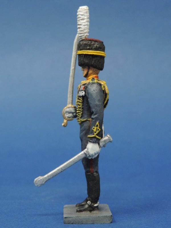 54mm Metal Cast Toy Soldier. Royal Horse Artillery Officer Standing