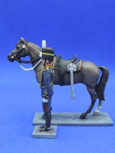 54mm Metal Cast Toy Soldier. Mounted Royal Horse Artillery Handler and Horse