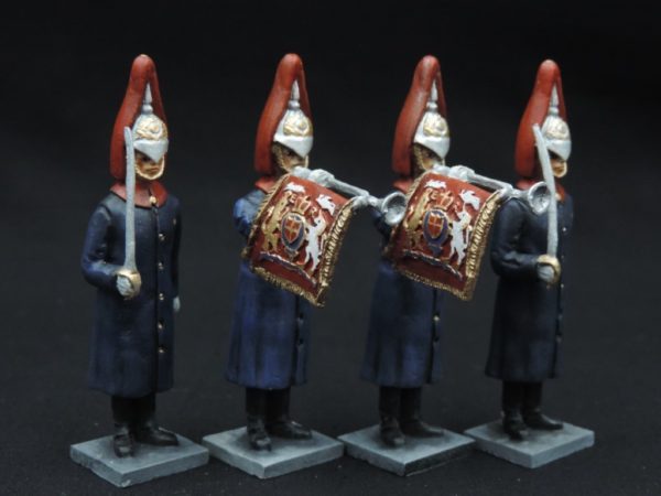 54mm Metal Cast Blues And Royals Toy Soldier.