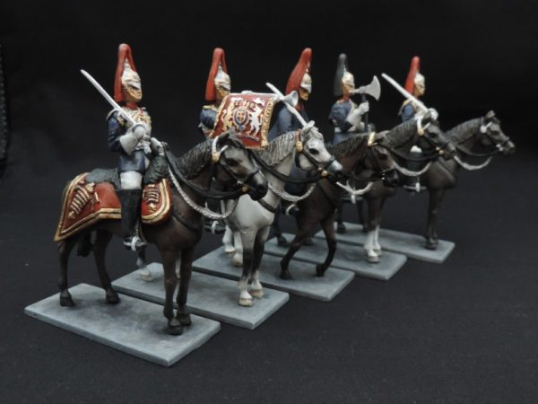 54mm Metal Cast Mounted Blues And Royals Toy Soldier