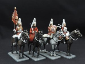 54mm Metal Cast Mounted Lifeguard Toy Soldier