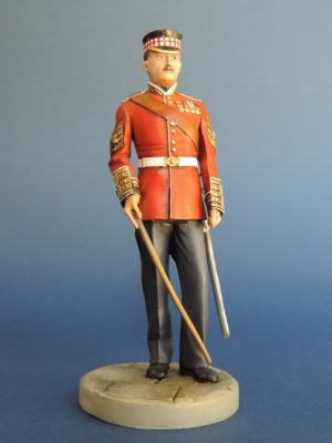 Hand Painted 90mm Metal Cast Military Figure RSM Scots Guards 1878 Produced By Loggerheads Military Studio