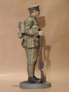 Hand Painted 120mm Resin Military Figure British Infantryman 1914 Produced By Loggerheads Military Studio