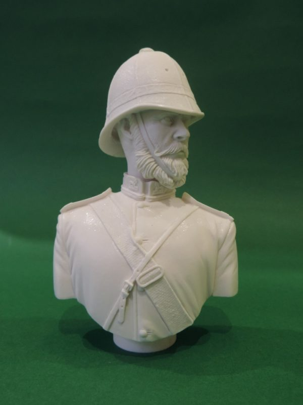 Unpainted 120mm British Empire 24th Foot Military Bust Produced By Loggerheads Military Studio