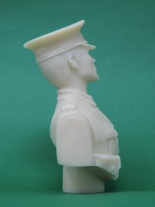 Unpainted 120mm WW1 British Tommy Peak Cap Military Bust Produced By Loggerheads Military Studio