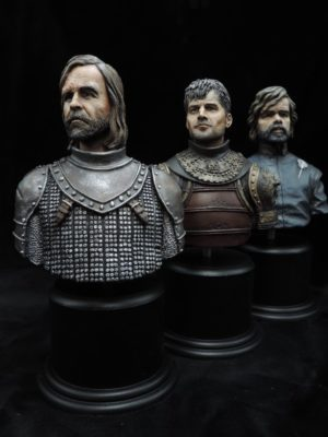 Hand Painted 80mm Game Of Thrones Military Busts Produced By Loggerheads Military Studio