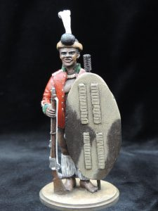 Hand Painted 80mm Metal Cast Military Figure Zulu Warrior 1879 Produced By Loggerheads Military Studio